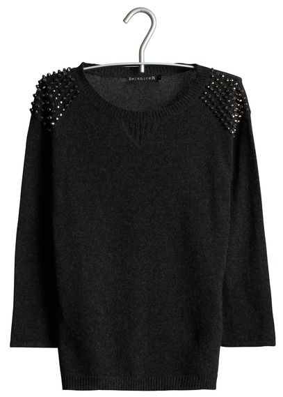 Pull clouté Gris by BERENICE