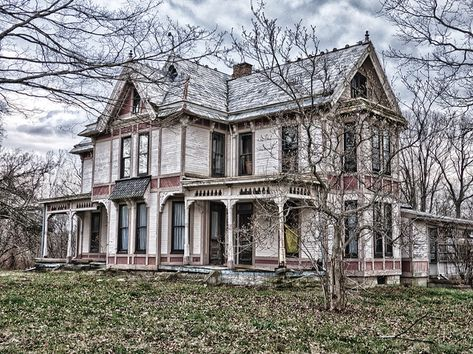 Abandoned house in Ohio - maybe this one can still be saved?  So elegant.