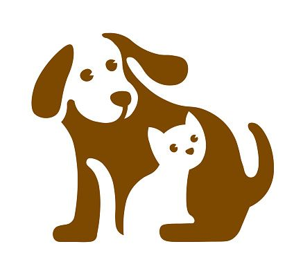Vector Image Of Dog And Cat On White Pet Logo Animal Logo Cat Vector Dog Vector