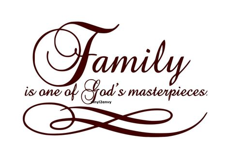 Family One Of Gods Masterpiece Wall Decal Vinyl Wall Decals | Etsy