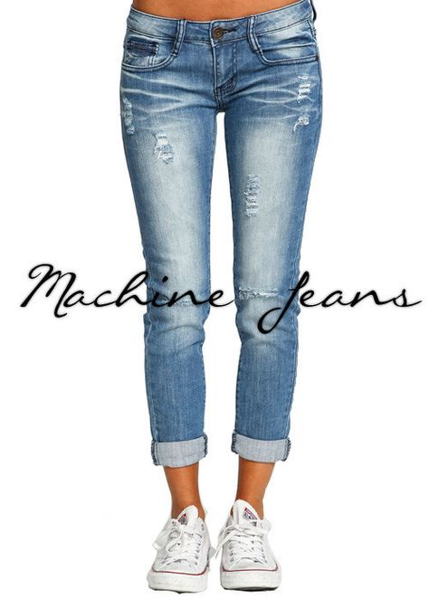 lightly distressed boyfriend jeans (not baggy)...they are growing on me when styled right!