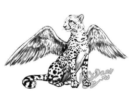 Image Result For Easy Drawing Of Cheetah With Wings Cheetah Drawing Cheetah Wallpaper Easy Drawings