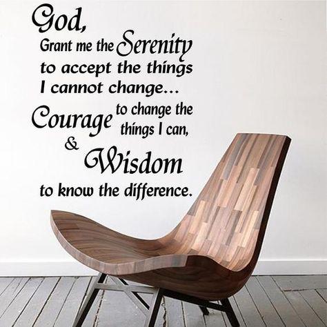 Wall Decal. Home Decor. Serenity Prayer. God grant me the Serenity. AA, Alanon..