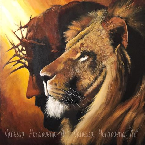 "Vanessa Horabuena on Instagram: ""New Root of David...Lion of Judah painting added to the website. VanessaHorabuena.com Lion of Judah 36x36 Original on 2"