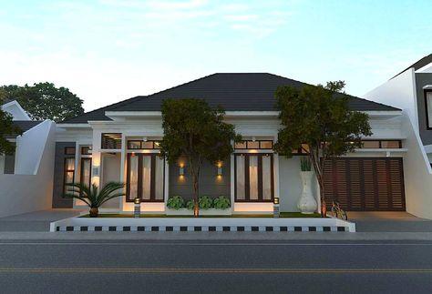 model rumah minimalis mewah dengan gaya modern 1 lantai