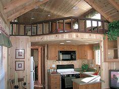 kitchen & loft in resort cabin
