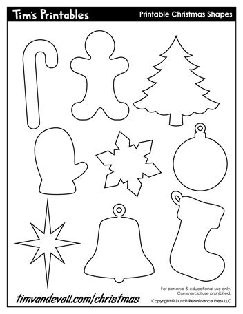 It is a graphic of Printable Christmas Decorations ( Cutouts) for template free