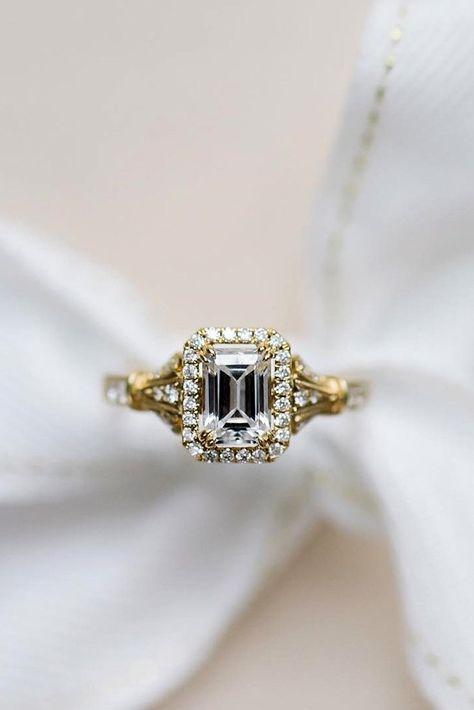 kirk kara engagement rings yellow gold engagement rings emerald cut diamond engagement rings halo engagement rings best rings kirkkara