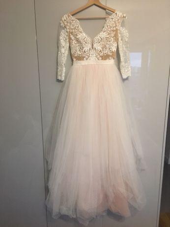 Sylwia Kopczynska Suknia Slubna Model 2018 Pudrowy Roz Z Koronka Warszawa Image 7 Dresses Wedding Dresses Prom Dresses