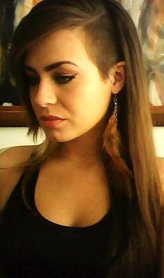 Shaved Long Hair on Pinterest | Half Shaved Hairstyles, Women's ...