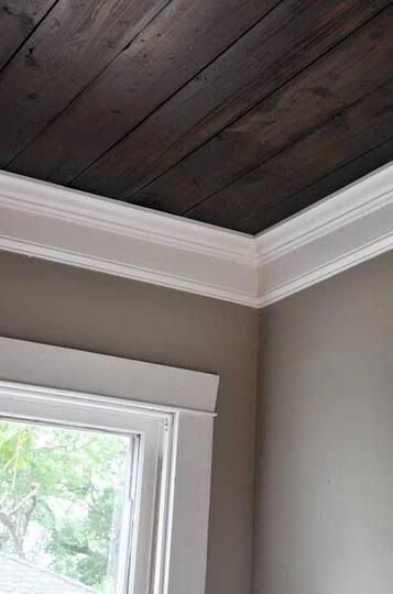 Prices For The Development Of A Basement In 2020 Wood Panel Walls White Wood Paneling Wood Beam Ceiling