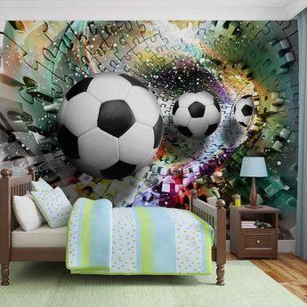 Football Wall Stickers Pack De 39 Autocollante chambre thème ballons de football Sport