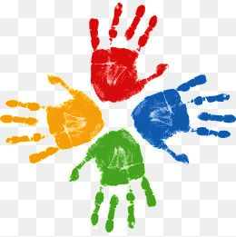 Vector Handprint Color Handprint Clipart Color Vector Hand Print Png Transparent Clipart Image And Psd File For Free Download Color Vector Clip Art Color