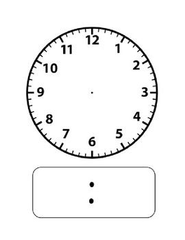 Clock Template Clock Template Clock Blank Clock