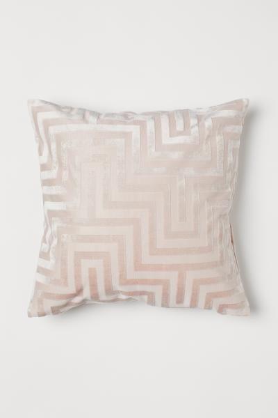 velvet cushion cover powder pink