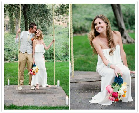 bouquet is awesome ::: stone cold fox wedding dress | green wedding ...