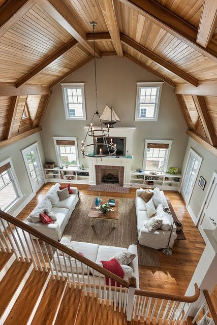 Future House, Barn Living, Home And Living, Living Area, Living Rooms, Style At Home, Barn House Plans, Barn Plans, Pole Barn Homes