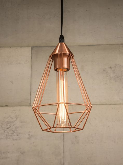 Copper Wire Cage Pendant Light Cage Pendant Light Wire Cage Pendant Light Copper Lighting
