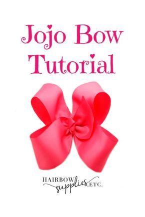 Jojo Bow In 2020 Jojo Hair Bows Jojo Bows Bow Tutorial