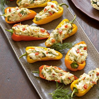 Tasty Festive Party Appetizers Stuffed Peppers Stuffed Mini Peppers Recipes
