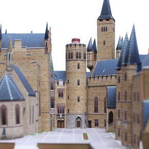Burg Hohenzollern Deutschland Architektur Papiermodelle Papiermodelle Deutschland Burg Gebaeude Mittelalter Papiermodell Deutschland Burgen Modell
