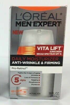 Loreal Men Expert Vita Lift Anti Wrinkle Firming Pro Retinol Par Elastyl Spf 15 Ebay In 2020 Daily Moisturizer Loreal Anti Wrinkle