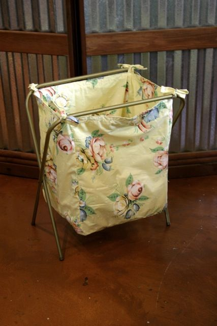 Upcycle an old TV stand to a laundry hamper