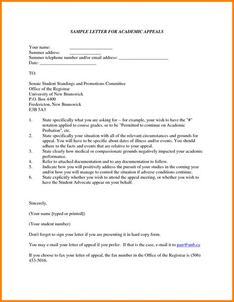 sample academic appeal letters throughout probation officer cover - how to write an appeal letter