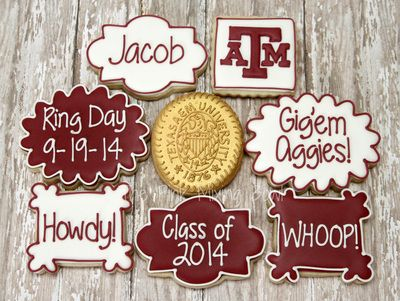 Texas A&M Aggie Ring Day Cookies by The Pink Mixing Bowl!