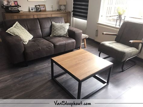 hier hebben we een rustiek new oak salontafeltje mogen leveren met een boxframe ook mogelijk