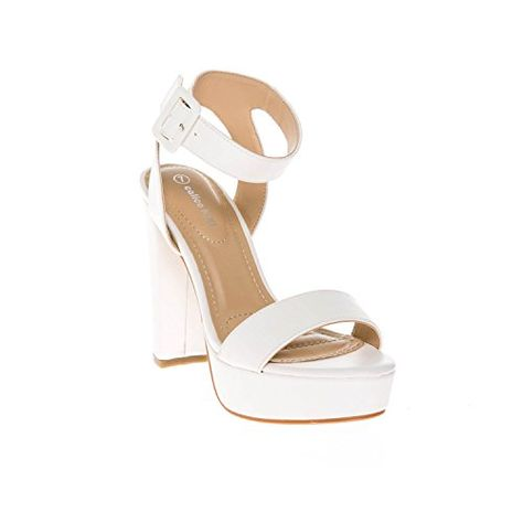 492008ebce45 Cape Robbin Maria-2 Lucite Clear Strappy Block Chunky High heel Open Peep  Toe Sandal Shoe Nude 10 - Brought to you by Avarsha.com