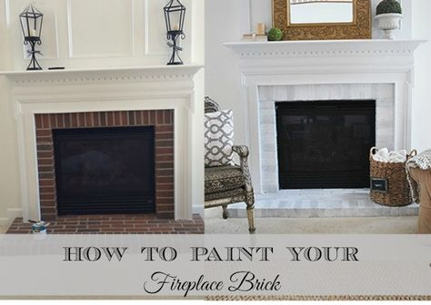 How-to paint your basic builder brick fireplace surround, it's easier than you think and makes a big difference in the overall look of your room.