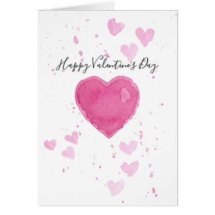 Watercolor Heart Valentine S Day Greeting Card Zazzle Com