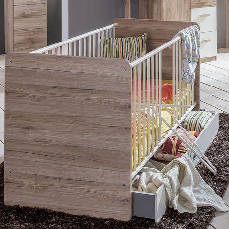 Vintage Babyzimmer Set Cariba tlg Schrank trg Wei Eiche San Remo Wimex M bel online g nstig kaufen Babyzimmer Jugendzimmer Pinterest M bel online