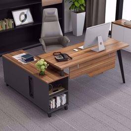 Large L Shaped Desk Computer Desk Workstation And Storage In 2020 Computer Desk Design Desk Modern Office Desk