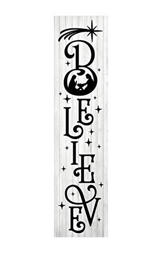 Black and White Farmhouse Christmas Printed Handmade Wood Sign