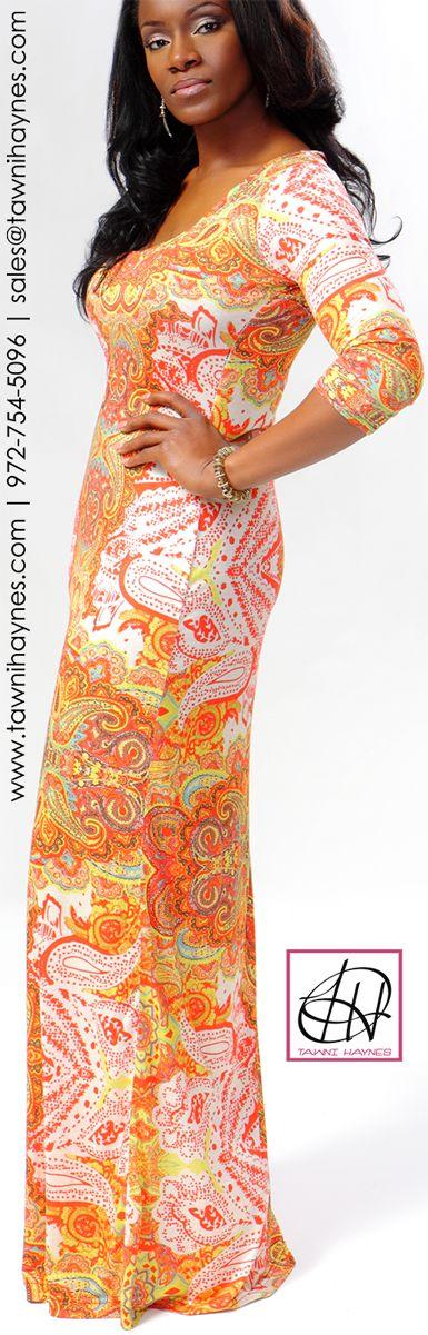 Tawni Haynes Tribal Paisley Maxi Dress. Order by phone 972-754-5096, or online http://shop.tawnihaynes.com/product-p/trbl-psly-maxi-dress.htm