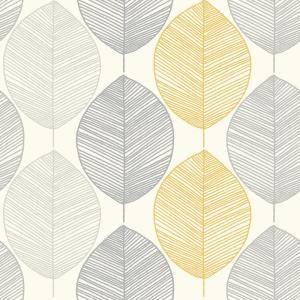 Arthouse Scandi Leaf Yellow Paper Strippable Roll Covers 56 Sq Ft 698401 The Home Depot In 2020 Leaf Wallpaper Yellow Wallpaper Glitter Wallpaper
