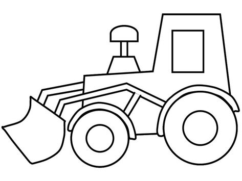 Free coloring pages of prepositions to color Sketches for class - copy simple tractor coloring pages