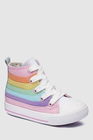 Cute girl shoes, Rainbow sneakers
