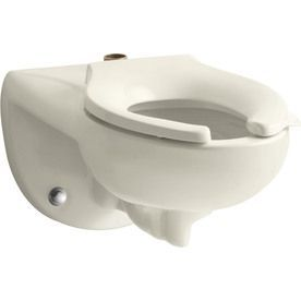 Kohler Kingston Chair Height Almond Wall Hung Rough In Pressure Assist Commercial Toilet Toilet Bowl Toilet