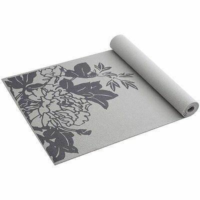 Gaiam Yoga Mat New Gray Peony Prosperity Print Non Slip 68 X24 3mm Durable Home Gaiam Yoga Mat Thick Yoga Mats Print Yoga Mat