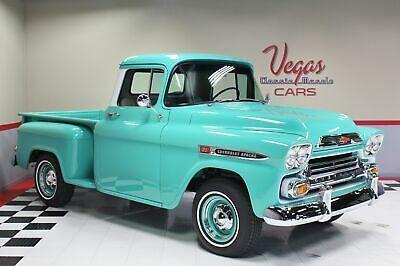1959 Chevrolet Apache 3100 Pickup Truck Old 1950 S Trucks For