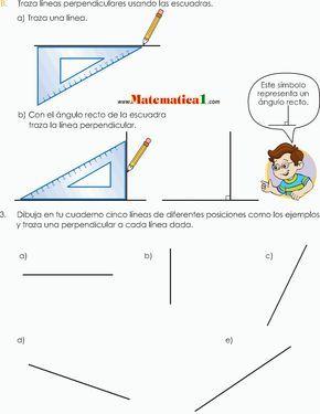 Estudio De Los ángulos Y Las Líneas Escuadra Y Transportador En Tercero De Pr Tercero De Primaria Matematicas Tercero De Primaria Paralelas Y Perpendiculares