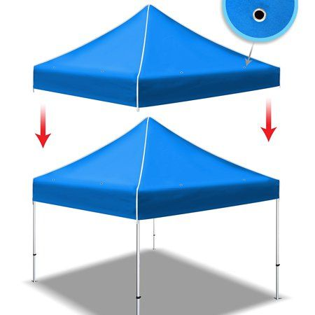 Sunrise Ez Pop Up Instant Canopy 10 X10 Replacement Top Gazebo Ez Canopy Cover Patio Pavilion Sunshade Plyester Blue Canopy Cover Instant Canopy Canopy