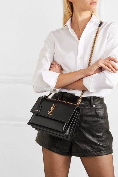 Saint Laurent Sunset Medium In 2020 With Images Saint Laurent Bag Outfit Fashion Crossbody Bag Outfit