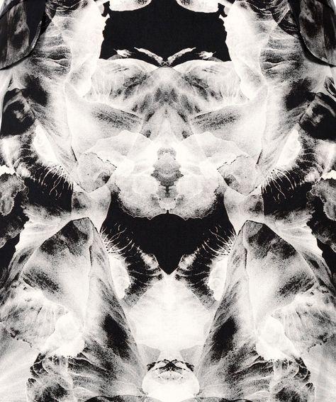 Monochrome Iris Print Bell Skirt by McQ