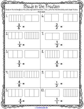 Equivalent Fractions 3rd Grade Worksheets Games Activities With