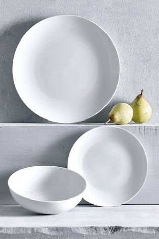 Studio Set Of 4 Pasta Bowls Dinner Sets Buy Kitchen White Dinnerware