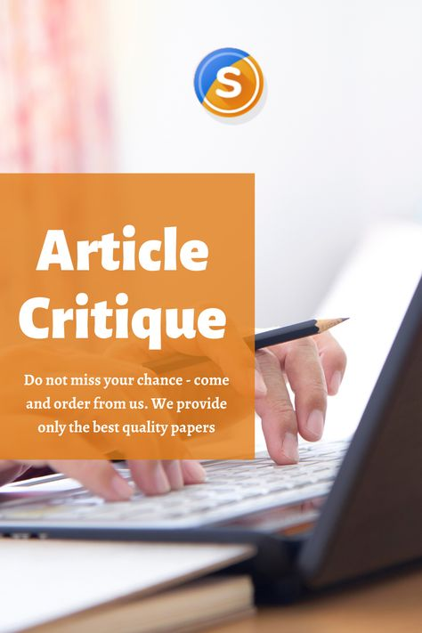 Order Your Article Critique from Expert Writers